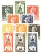 Holland 1923 - NVPH 121-131 - Ubrugt
