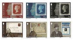 英属马恩岛-世界首枚邮票黑便士 175年的纪念
