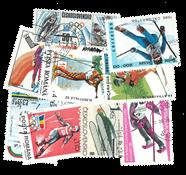 10 sellos del tema Esquí