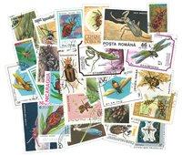 25枚不同有关昆虫和蜘蛛的邮票