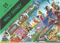 Walt Disney frimærkepakke med 25 forskellige Disney motiver