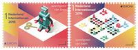 Netherlands - Europa 2015 / Robot - Game - Mint set 2v