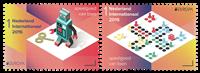 Holland - Europa 2015 robot/ludo - Postfrisk sæt 2v