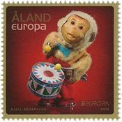 Åland - EUROPA 2015, jouets anciens - Timbre neuf