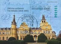 Hongrie - Ybl Miklós - Bloc oblitéré numéro vert