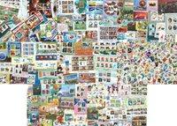 朝鲜新票袋票, 200枚小型张和800枚邮票,含有很多套票。