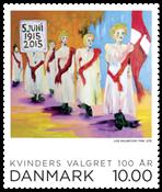 Danemark - Le centenaire du droit de vote des femmes - Timbre neuf