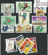 Handball 17 different stamps