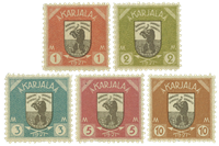 Karelen - 1922 postfrisk sæt AFA 8-12