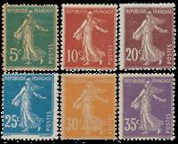 Frankrig 1907 - YT 137-42 - Ubrugt