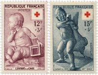 Frankrig 1955 - YT 1048/49 - Ubrugt