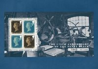 England - Penny Black overtryk Europhilex 2015 - Postkort