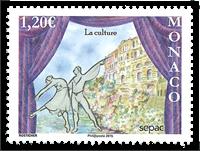 Monaco - Sepac 2015 - culture - Timbre neuf