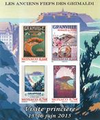 Monaco - Grimaldislægtens besiddelser - Postfrisk miniark