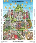 Saint Marin - Le village européen - Bloc-feuillet neuf