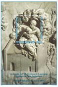 Vatikanet - Marmorrelief - Postfrisk miniark