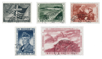 Belgique 1957 - OBP 1032/36 - Oblitéré