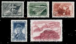 Belgien 1957 - OBP 1032/36 - Stemplet