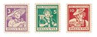 Schweiz 1916 - Michel 130/32 - Ubrugt