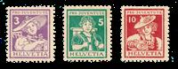 Suisse 1916 - Michel 130/32 - Neuf avec charnières