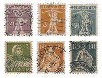 Suisse 1915 - Michel 136/41 - Oblitéré