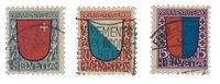 Schweiz 1920 - Michel 153/55 - Stemplet