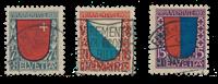 Suisse 1920 - Michel 153/55 - Oblitéré