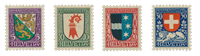 Schweiz 1926 - Michel 218/21 - Ubrugt