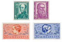 Switzerland 1937 - Michel 314/17 - Unused