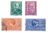 Schweiz 1937 - Michel 314/17 - Stemplet