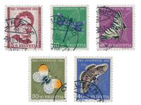 Schweiz 1951 - Michel 561/65  - Stemplet