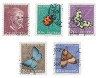 Suisse 1952 - Michel 575/79 - Oblitéré