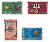 Schweiz 1954 - Michel 593/96 - Stemplet