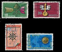 Suisse 1954 - Michel 593/96 - Oblitéré