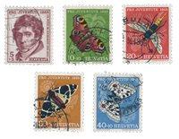 Suisse 1955 - Michel 618/22 - Oblitéré