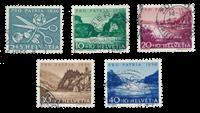 Suisse 1956 - Michel 627/31 - Oblitéré