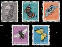 Schweiz 1950 - Michel 550/54 - Postfrisk