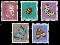 Schweiz 1952 - Michel 575/79 - Postfrisk
