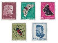 Schweiz 1953 - Michel 588/92 - Postfrisk