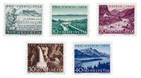 Schweiz 1954 - Michel 597/601 - Postfrisk