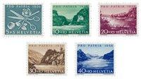 Suisse 1956 - Michel 627/31 - Neuf