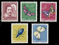 Suisse 1956 - Michel 632/36 - Neuf