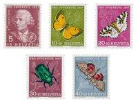 Suisse 1957 - Michel 648/52 - Neuf