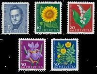 Suisse 1961 - Michel 742/46 - Neuf