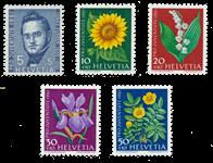 Schweiz 1961 - Michel 742/46 - Postfrisk