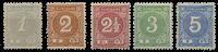 Suriname 1890 - Nr. 16-20 - Ongebruikt
