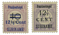 Suriname 1926 - Nr. 116-117 - Ongebruikt