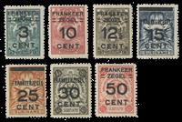 Suriname 1927 - Nr. 130-136 - Ongebruikt
