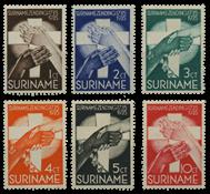 Suriname 1935 - Nr. 151-156 - Ongebruikt