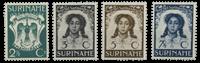 Suriname 1938 - Nr. 183-186 - Ongebruikt
